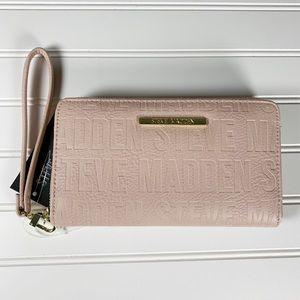 Steve Madden BZIP Blush Zip Around Wallet